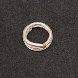 Anillo artesanal espiral plata