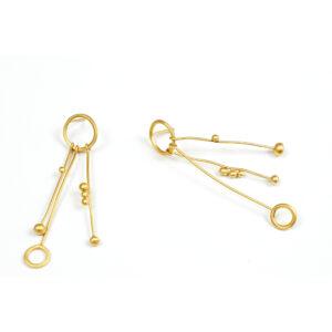 Pendientes artesanales colgantes plata chapados oro
