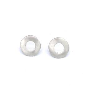 Pendientes artesanales circulares plata