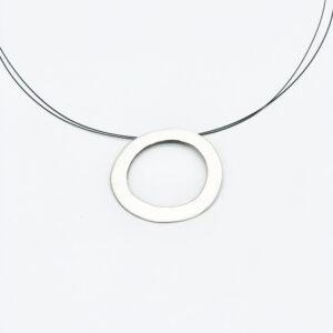 Colgante artesanal circular plata